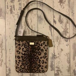 Coach leopard print crossbody purse NWT